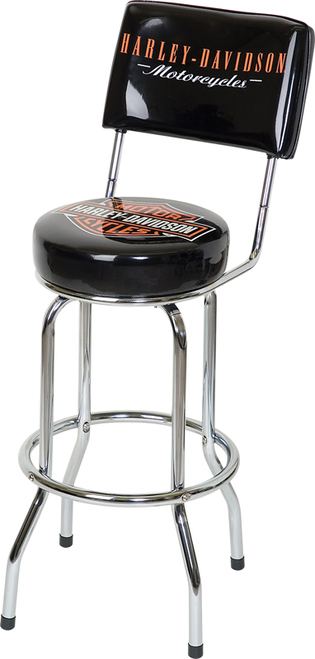 Harley Davidson Bar Stool Bar and Shield - Backed Bar Height