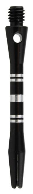 Colormaster Aluminum Grooved Dart Shafts - In Between (INB) - Black - Set of 3
