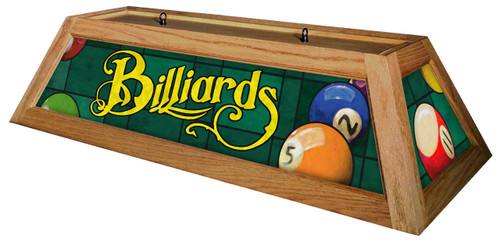 Classic Green Billiards Pool Table Light Oak Stain
