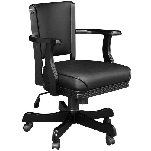 Ram Gameroom Swivel Poker Chair with Casters Black