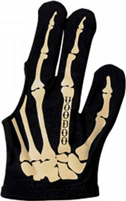 Voodoo Billiard Glove Bone Skeleton - Left Bridge Hand