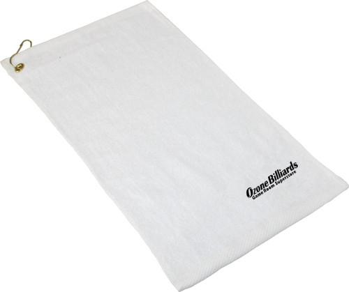 Ozone Billiards Logo Towel - White