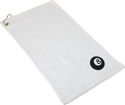 Ozone Billiards 8 Ball Towel - White - Free Personalization