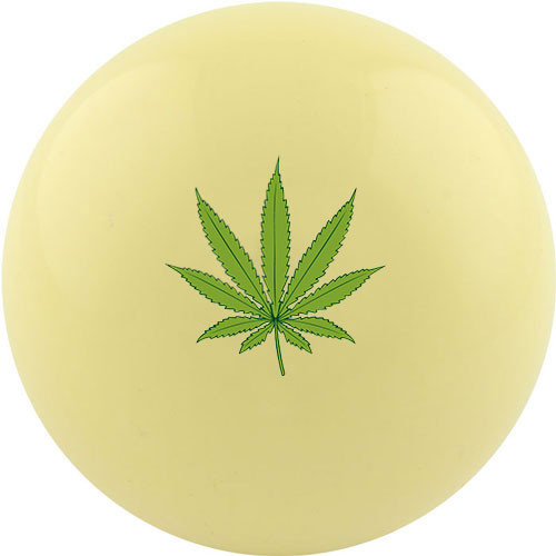 Custom Cue Ball - Green Leaf