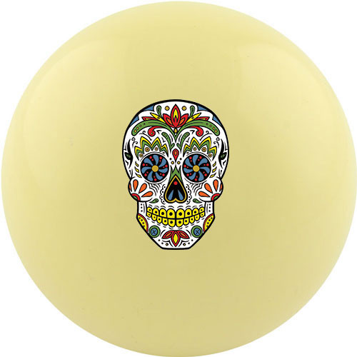 Custom Cue Ball - Candy Skull