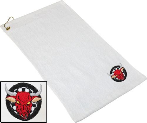 Ozone Billiards Dartboard Bull Towel - White - Free Personalization