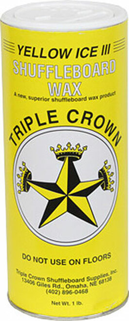 Triple Crown Shuffleboard Wax - Yellow Ice 3