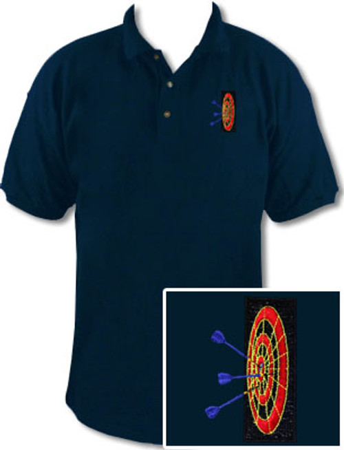 Ozone Billiards 3D Dartboard Navy Polo Shirt - Free Personalization