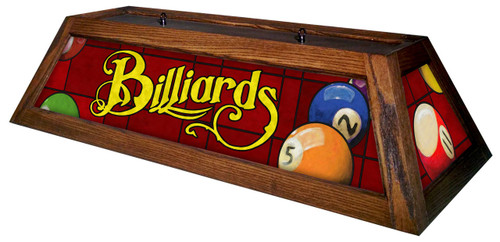 Classic Red Billiards Pool Table Light Mahogany Stain