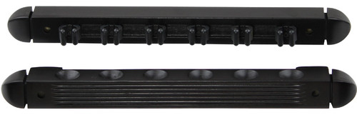 Ozone Pool Cue Rack - 6 Cue Wall Rack Black