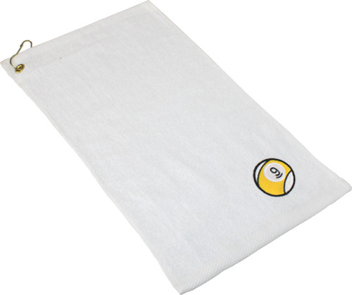 Ozone Billiards 9 Ball Towel - White - Free Personalization