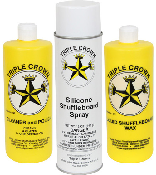 Triple Crown Shuffleboard Care and Maintenance Kit