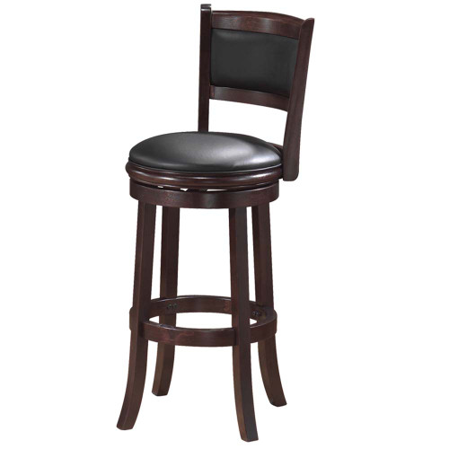 Ram Gameroom Backed Bar Stool Cappuccino