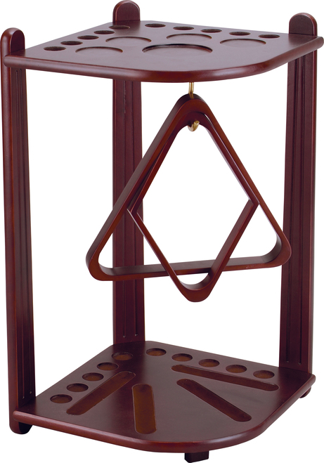 Ozone Pool Cue Stand - 10 Cue Cherry Mahogany