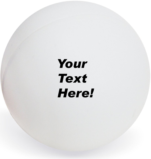 Custom Ping Pong Ball Personalized Text - 6 Ball Set