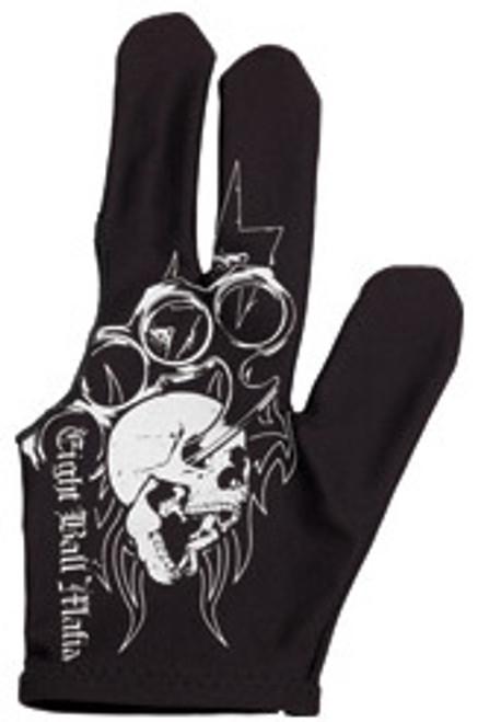 Eight Ball Mafia Glove Tribal Skull - Left Bridge Hand