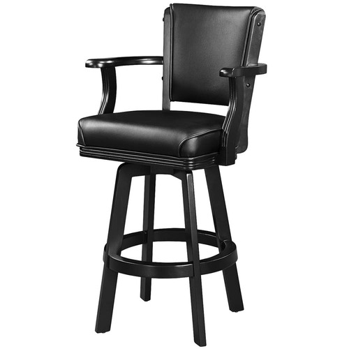 Ram Gameroom Swivel Bar Stool with Arms Black