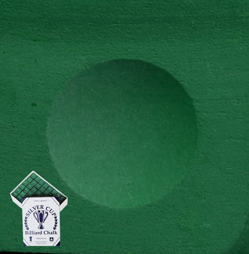 Silver Cup Pool Cue Chalk Green 144 Pieces