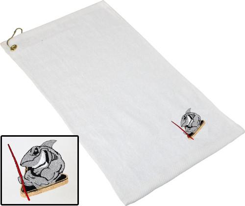 Ozone Billiards Pool Shark Towel - White - Free Personalization