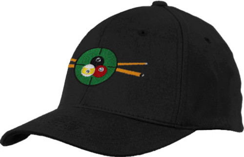 Ozone Billiards In The Crosshairs Hat - Black - Free Personalization