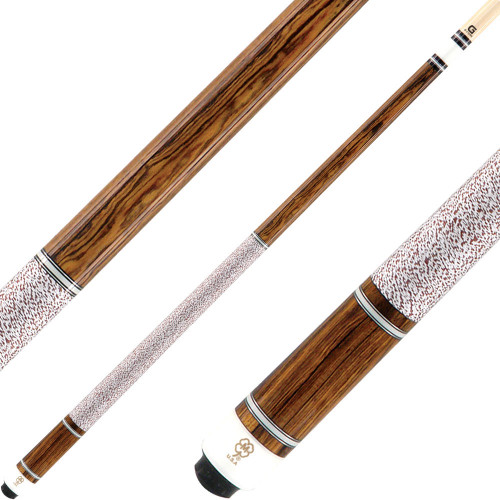 McDermott Cues G Series Bocote with 5 Ivory and Silver Rings