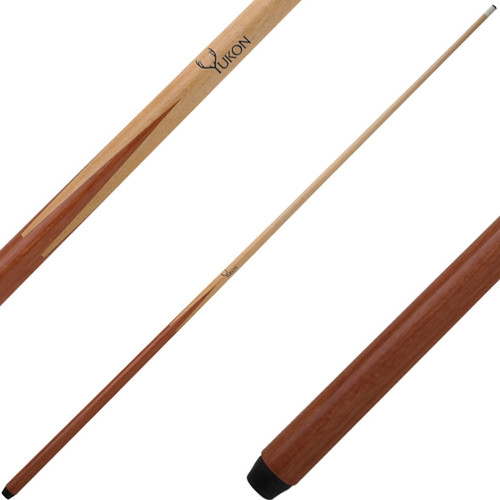 One Piece Cue with Layer Leather Screw On Tip 18oz