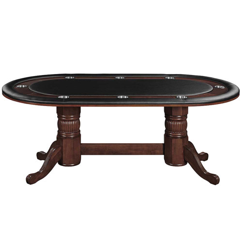 """Ram Gameroom Poker Table with Dining Top 84"""" Cappuccino"""