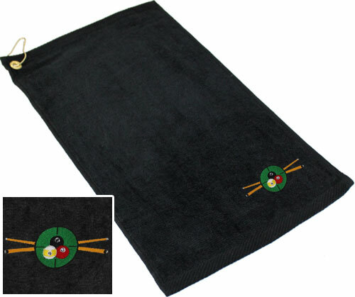 Ozone Billiards In The Crosshairs Towel - Black - Free Personalization