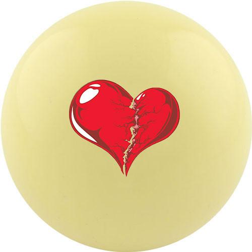 Custom Cue Ball - Broken Heart