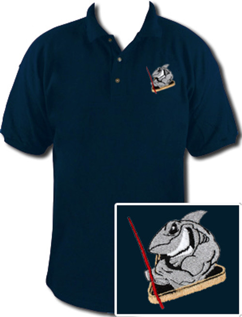 Ozone Billiards Pool Shark Polo Shirt - Navy - Free Personalization