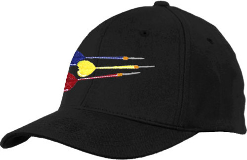 Ozone Billiards Three Darts Hat - Black - Free Personalization