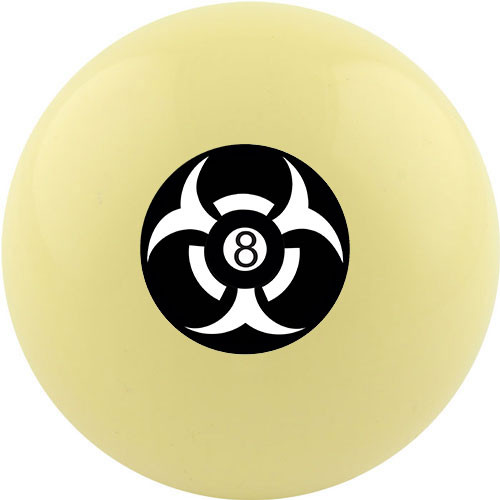 Custom Cue Ball - 8 Ball Hazard