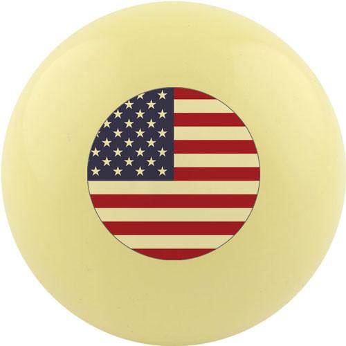 Custom Cue Ball - United States Flag