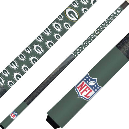 Green Bay Packers Cue And Case Set