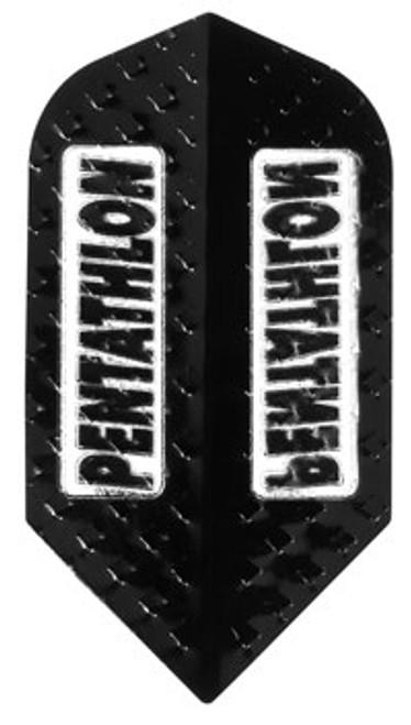 Pentathlon 100 Micron Thick Slim Flights - Black