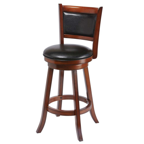 Ram Gameroom Backed Bar Stool Chestnut