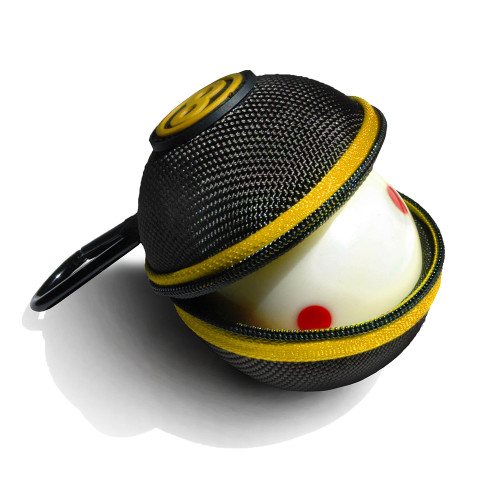 Ballsak Cue Ball Case Sport Series Black and Yellow