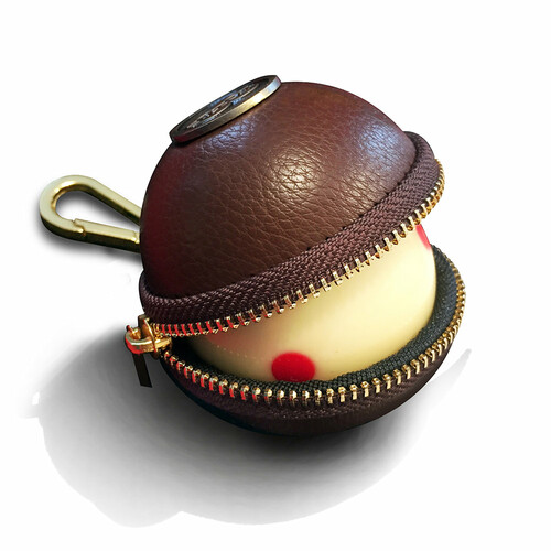 Ballsak Cue Ball Case Pro Series Brown and Brass