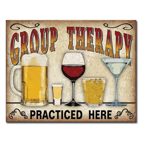 Group Therapy Metal Sign