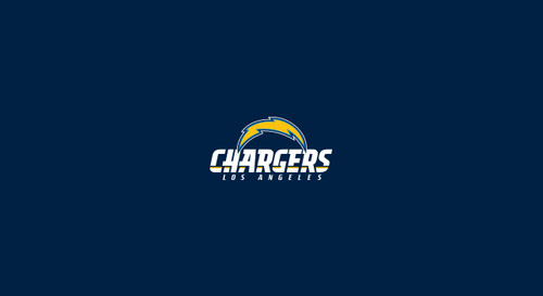 Los Angeles Chargers Pool Table Felt