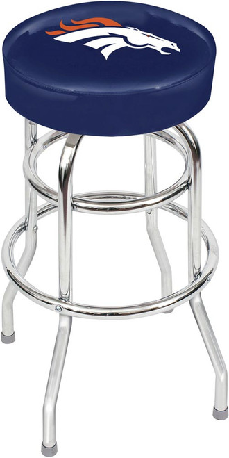 Denver Broncos Chrome Bar Stool