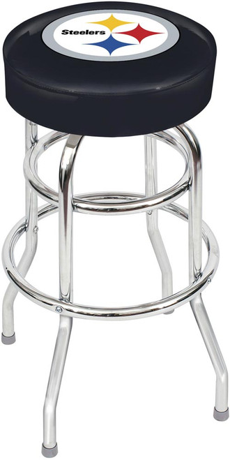 Pittsburgh Steelers Chrome Bar Stool