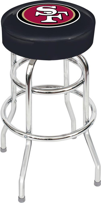 San Francisco 49ers Chrome Bar Stool