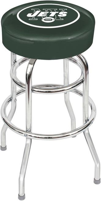 New York Jets Chrome Bar Stool