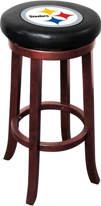 Pittsburgh Steelers Wooden Bar Stool