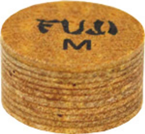 Fuji Cue Tip - Laminated Regular Leather Medium - 14mm