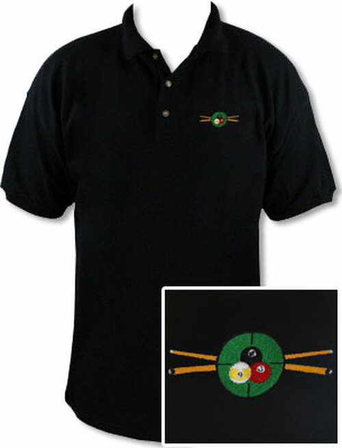 Ozone Billiards In The Crosshairs Black Polo Shirt - Free Personalization