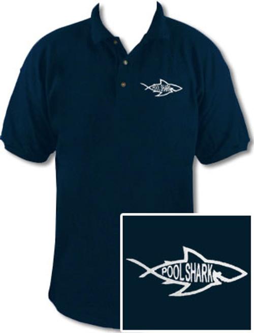 Ozone Billiards Pool Shark Logo Navy Polo Shirt - Free Personalization