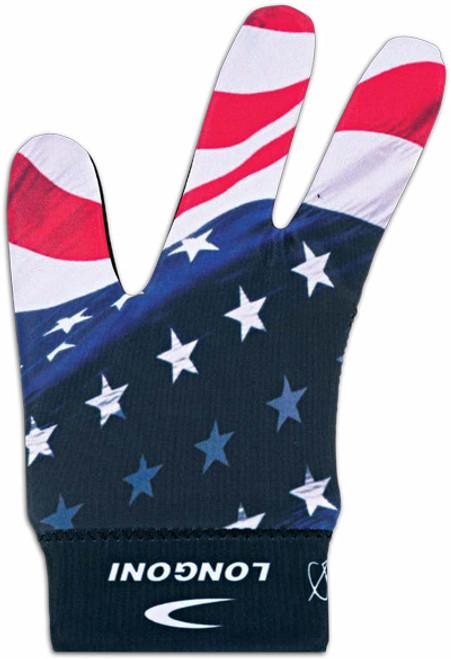 Longoni Billiard Glove USA Flag 1 - Right Bridge Hand