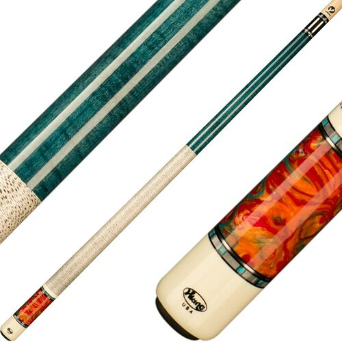 Viking Cues Teal Stain and Aqua Fire
